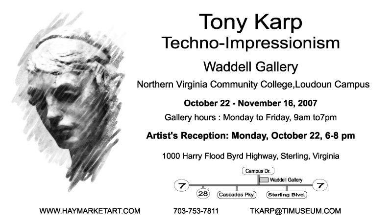Waddell Art Gallery Exhibit by Tony Karp - Join us  at the Waddell Art Gallery - Techno-Impressionist Museum - Techno-Impressionism - art - beautiful - photo photography picture - by Tony Karp
