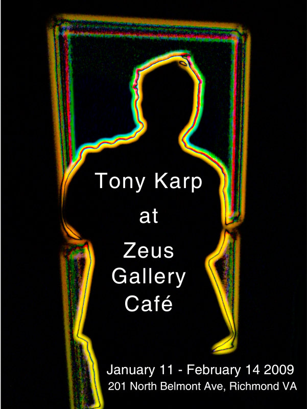 poster from Seamless Integration Exhibit at Zeus Gallery in Richmond Virginia - Seamless integration an exhibition by Tony Karp - Techno-Impressionist Museum - Techno-Impressionism - art - beautiful - photo photography picture - by Tony Karp