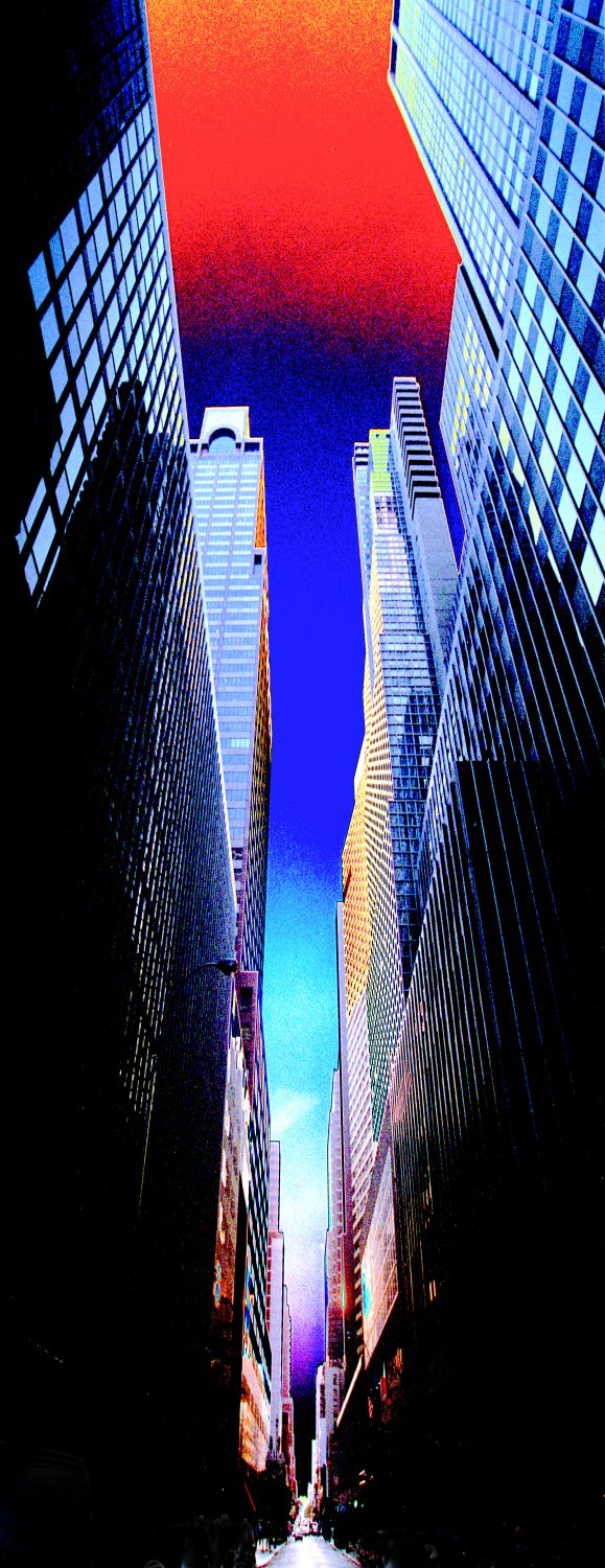 - <center>Manhattan Canyon - Techno-Impressionist Museum - Techno-Impressionism - art - beautiful - photo photography picture - by Tony Karp