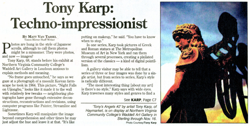 Review of Tony Karp exhibit