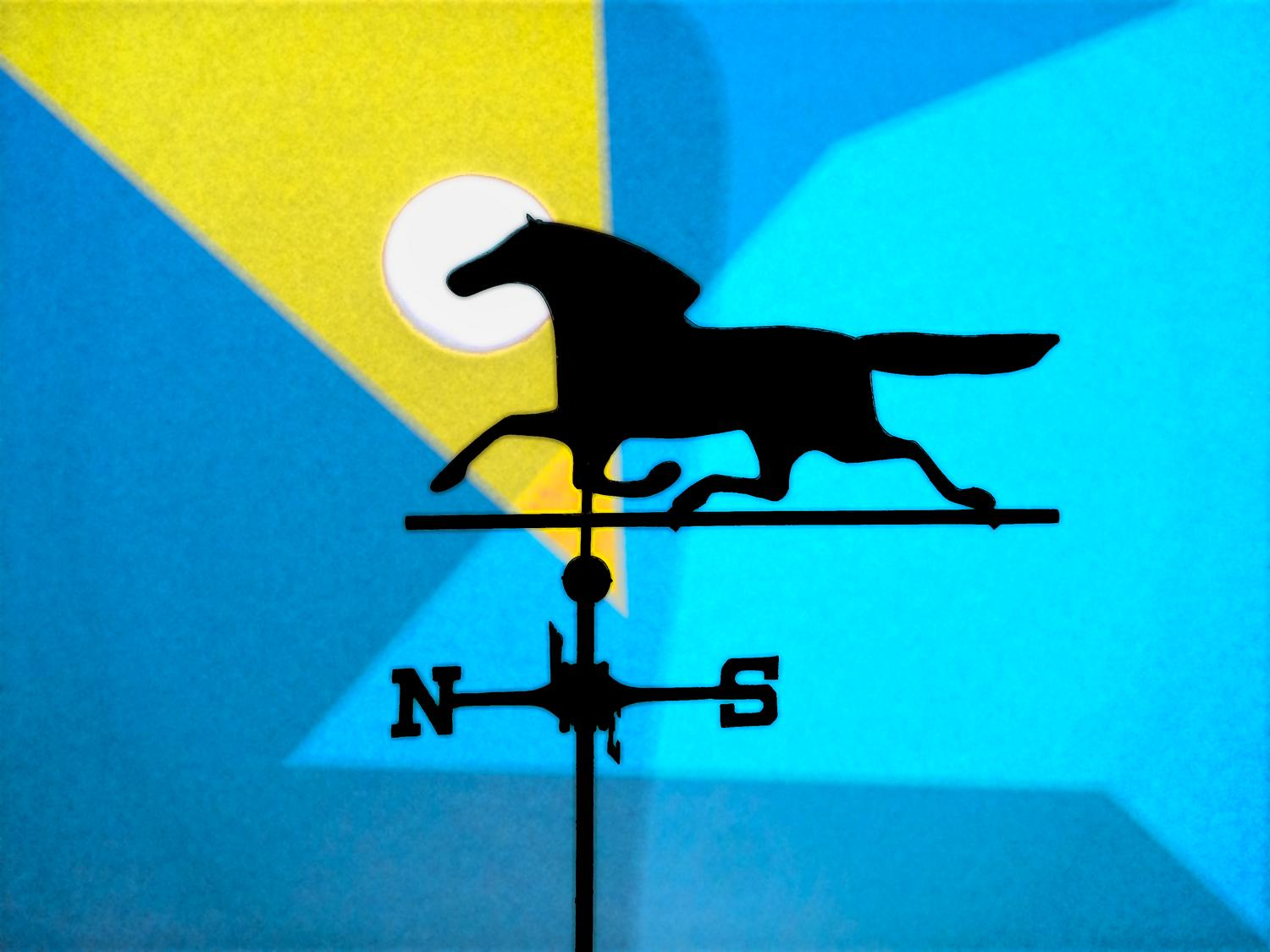 weathervane other the artist's studio done in the style of Feininger - Ode to Feininger #2 - Techno-Impressionist Museum - Techno-Impressionism - art - beautiful - photo photography picture - by Tony Karp