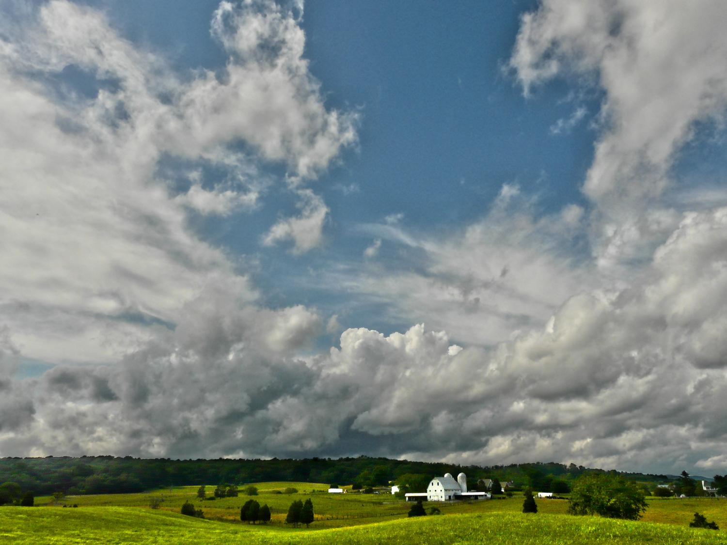 view Avalon Farm in Warrenton Virginia, view from Bucklands Farm market scene with barn and large vista - <center>On our way to Warrenton - Techno-Impressionist Museum - Techno-Impressionism - art - beautiful - photo photography picture - by Tony Karp